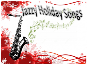 Holiday ornamental image with a saxophone
