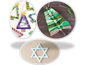 Three different ornaments