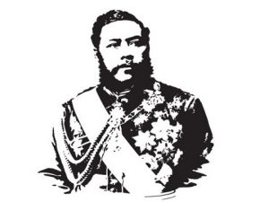 Drawing of King Kalakaua