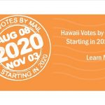 Hawaii Votes by Mail 2020 logo