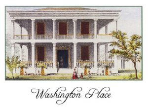old photo of washington place historic home