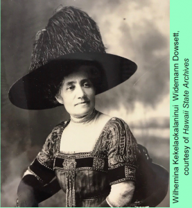 Wilhemina Kekelaokalaninui Widemann Dowsett Portrait courtesy of Hawai'i State Archives