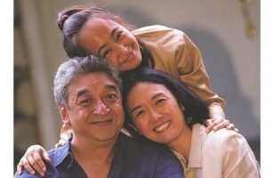 Photo of father, mother and daughter