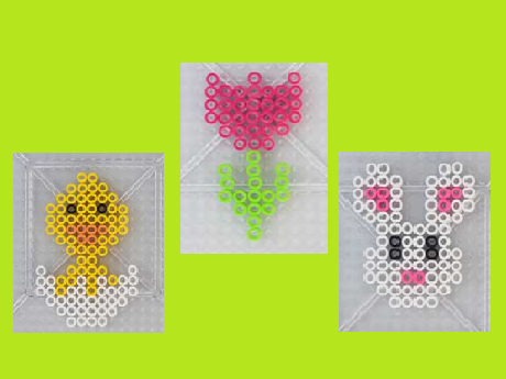 spring themed perler bead creations