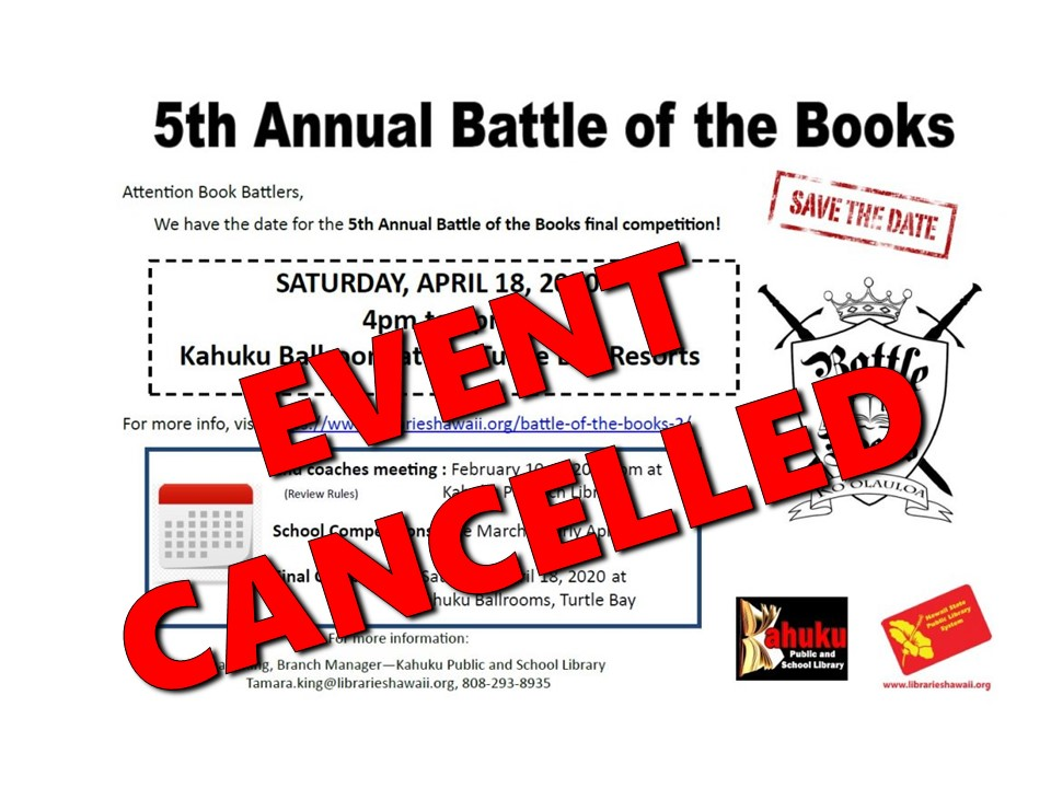 Battle of the Book Cancellation