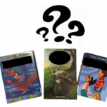 cover of books and question marks