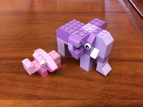 Two Lego Elephants