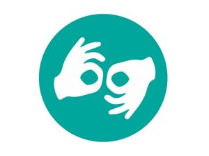 sign language interpreting symbol