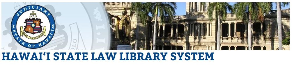 Hawaii State Law Library System logo