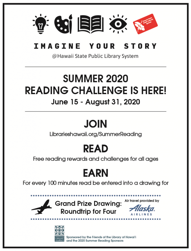 2020 Summer Reading Challenge flyer