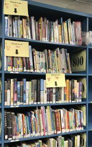 A shelf of quarantined books