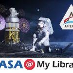 NASA's Artemis Program showing an astronaut on the moon