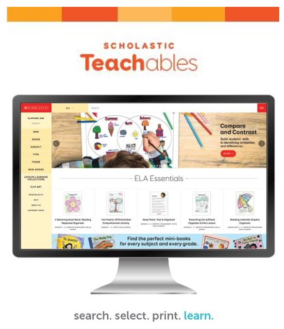 Scholastic Teachables: Free Online Resources for Students, Parents and Educators