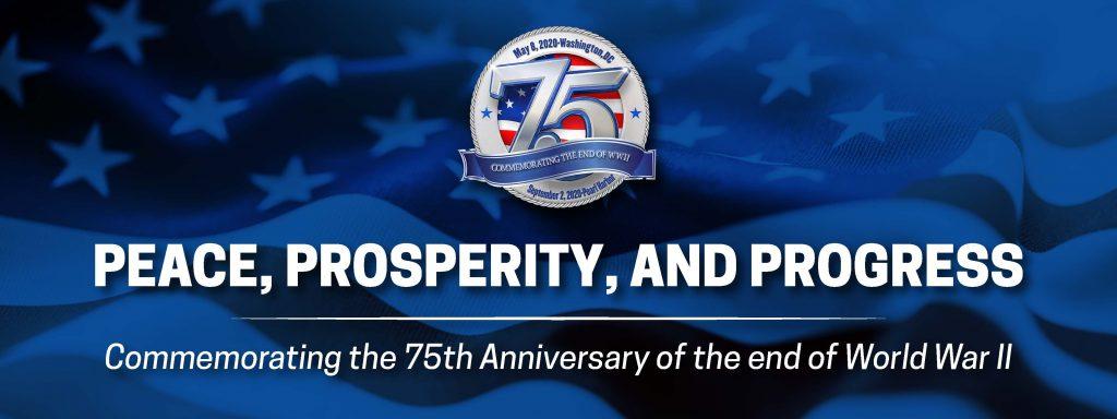 World War II 75th Anniversary Commemoration banner