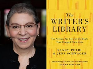 Author Nancy Pearl and her book The Writer's Library