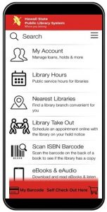 LibrariesHI app on mobile phone