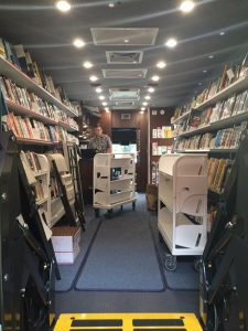 Maui Bookmobile inside