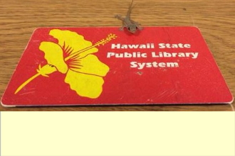 A gecko on a library card.