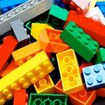 Pile of colored Lego bricks