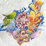 meditative coloring photo