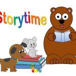 Cartoon animals reading books. Storytime