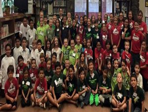 photo of Battle of the Books ice breaker group