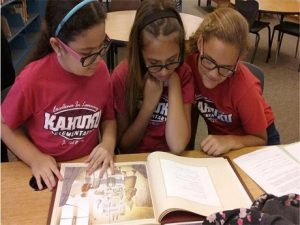 photo of Battle of the Books Kahuku Team meeting