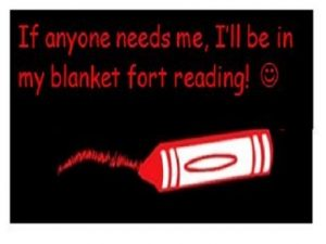 Words about reading in my blanket fort