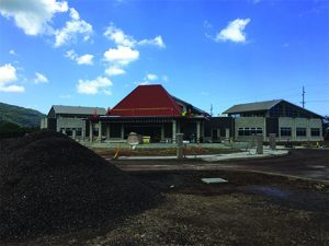 May 2017 - wide angle photo - Nanakuli Library under construction