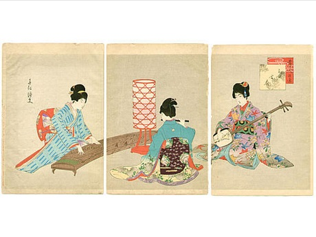 Japanese women playing instruments